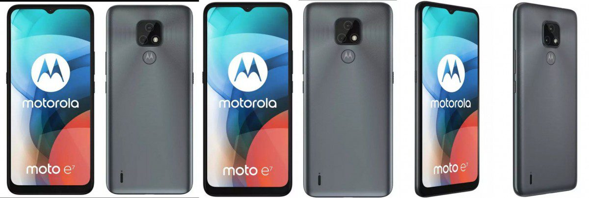 Leaks appear in two colors in the official Moto E7 look