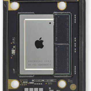 Note the two RAM chips right next to it