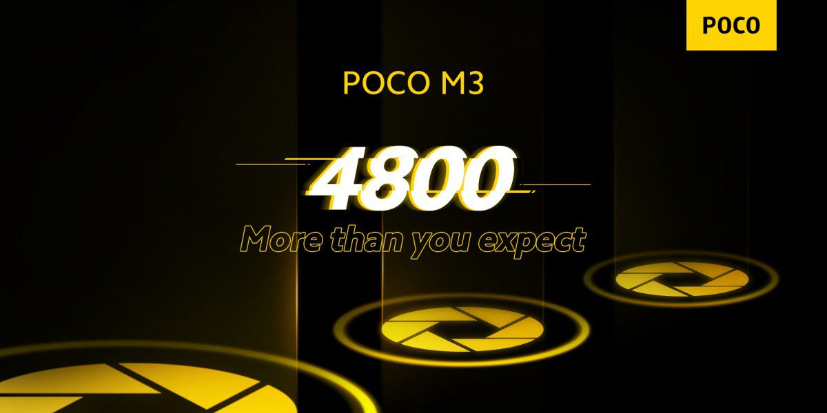 The Poco M3 is rumored to be available in Europe for around 150 euros and will be equipped with a 48MP camera.