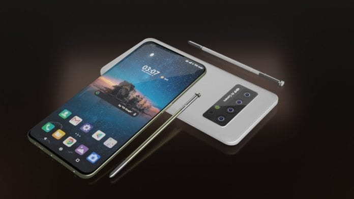 LG Stylo 7 image shows the design with four cameras