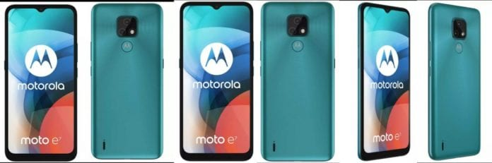 Leaks appear in two colors in the official Moto E7