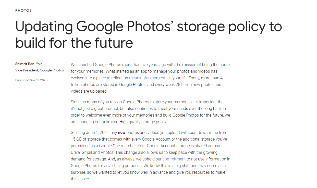 Now You Cannot upload unlimited images and videos on Google Photos, Here's Details-Techweu