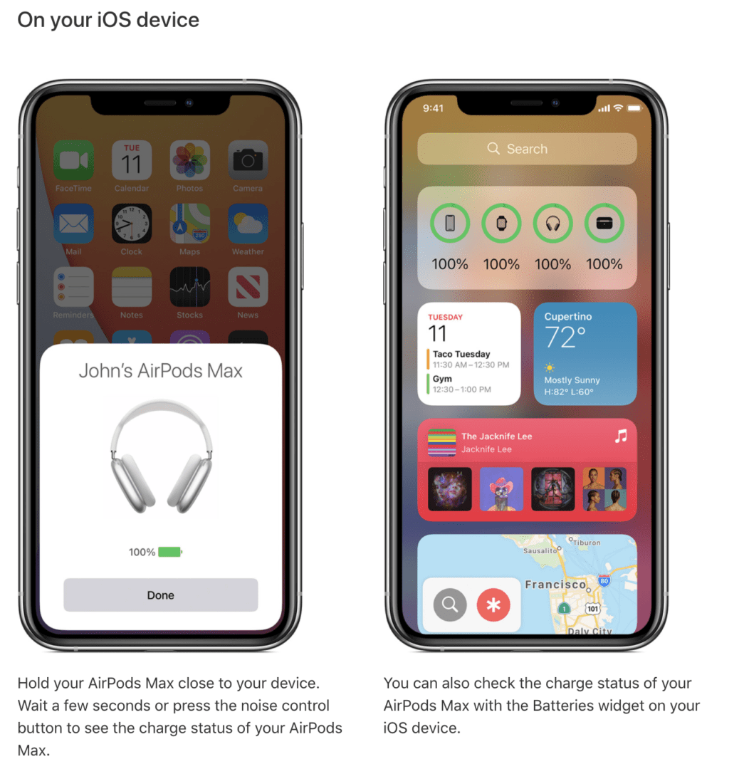 Apple AirPods Max low power mode details added in support document-Techweu