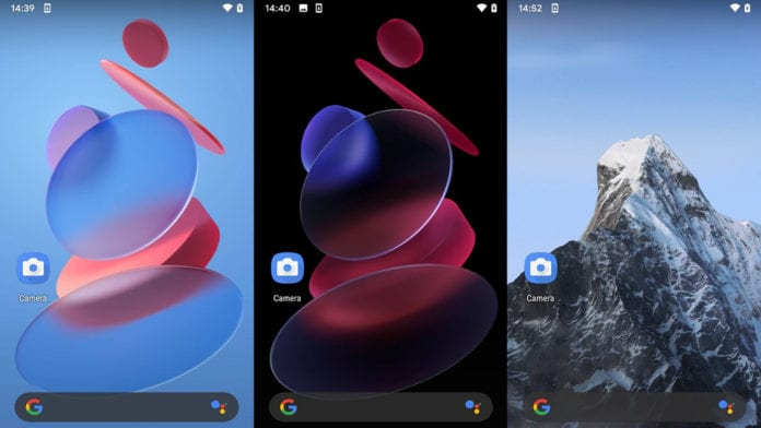 Download MIUI12 Geometry and Snow Mountain live wallpapers on any mobile
