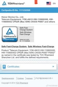 50W wireless charger for the Honor V40