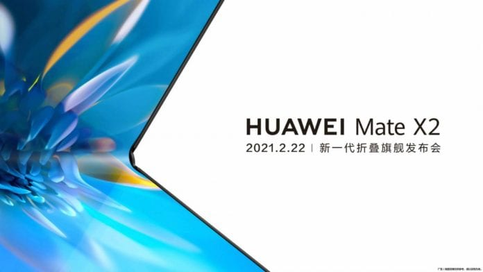 Huawei foldable Mate X2 will be announced on 22nd February as per leaks