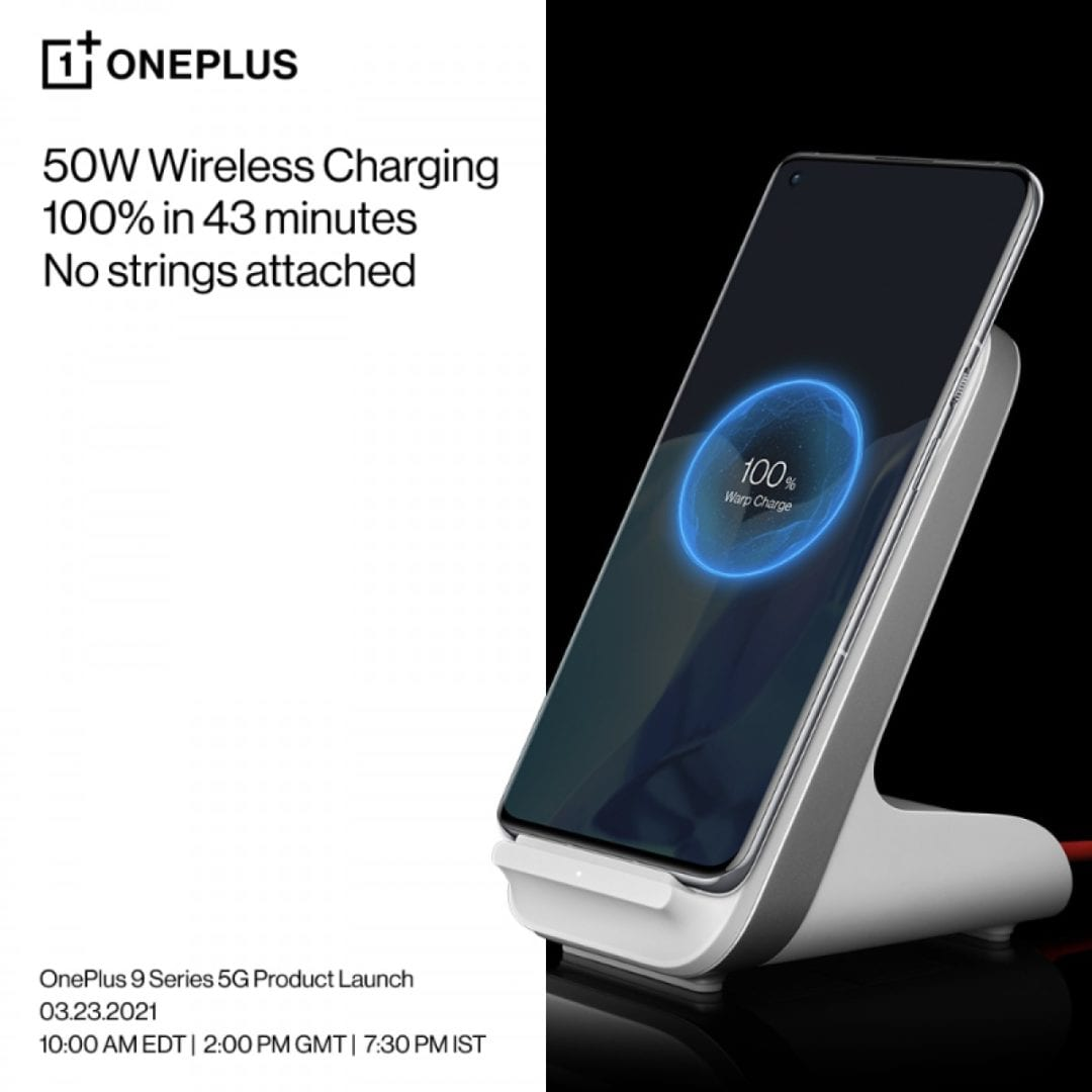 OnePlus 9 Pro: 4,500 mAh battery • 1-100% charge in 43 minutes with new 50W wireless charger