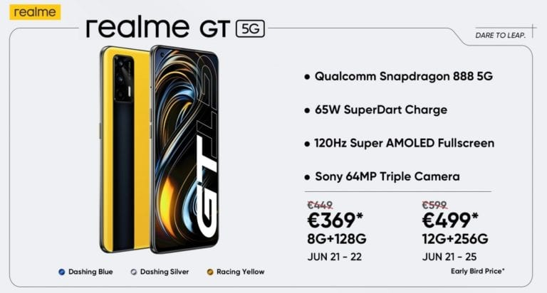 Realme GT launched in Europe with robot vaccum cleaner-Techweu