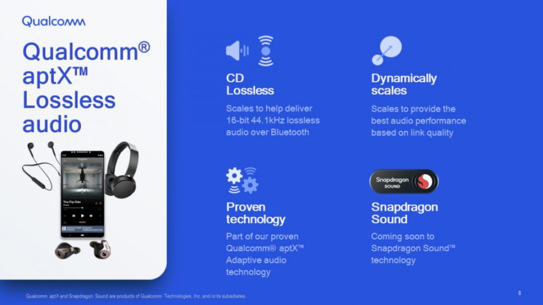 Qualcomm finally announced aptX Lossless audio for Bluetooth devices